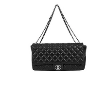 Load image into Gallery viewer, CHANEL Jumbo Black Rain Jacket Flap Bag