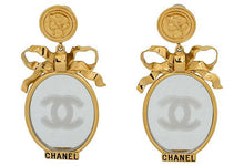 Load image into Gallery viewer, CHANEL Book-Piece Mirror Dangle Earrings
