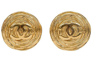 CHANEL Oversize Ribbed Earrings