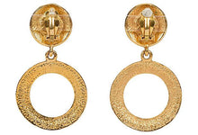 Load image into Gallery viewer, CHANEL Pearl Hoop Dangle Clip Earrings