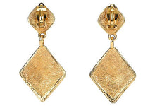 Load image into Gallery viewer, CHANEL 1980s Diamond-Shaped Earrings