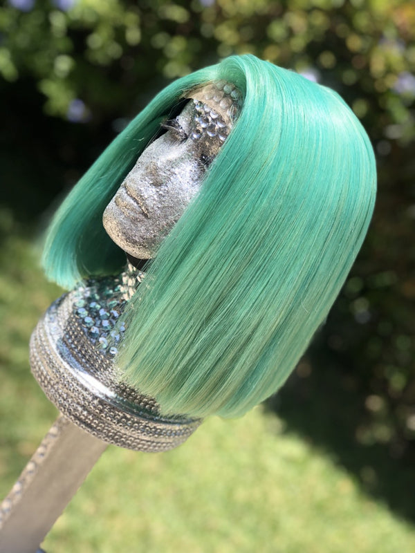 Demi   12 inch  Mint Green BoB Wig