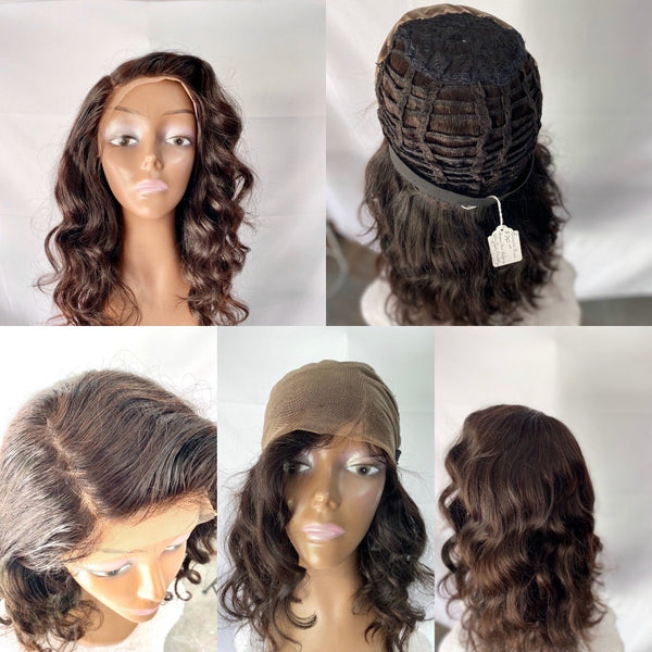 BIANCA   18 inch Dark Brown Lace Frontal Wig Brazilian Body Wave