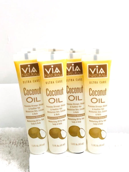 VIA OILS Lot of 12 Tubes (One Dozen) Moisturizing Oil for Hair Scalp & Body 1.5 fl oz each