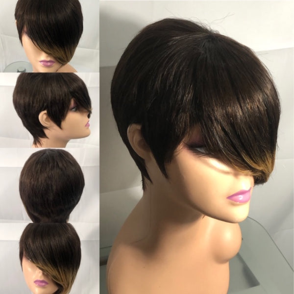 DAWN  Brown & Honey Blonde Pixie Wig