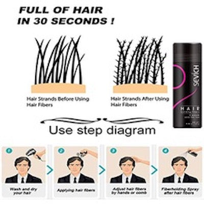 SEVICH Hair Building Fibers Color Powder Conceal Thinning Hair Natural