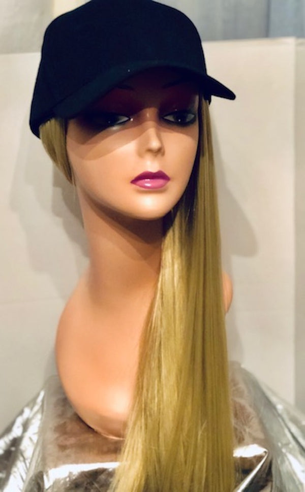 Baller Wig Cap    22 inch Straight Synthetic Hair Available in Blonde and Black