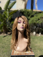 Candace   20 inch Honey Blonde  with Dark Roots Body Wave Wig