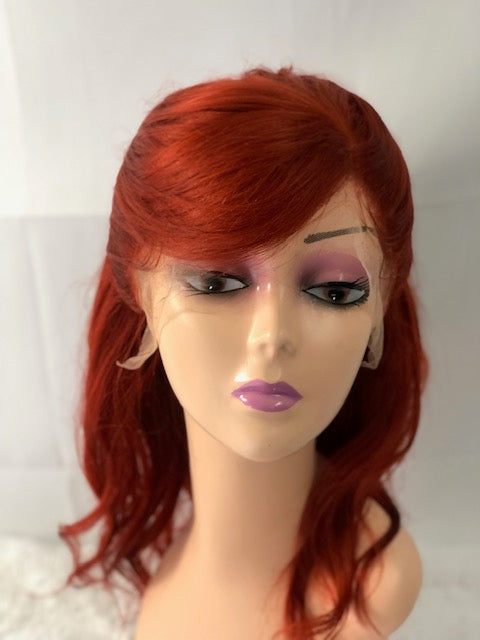 Jessica  12 inch Lace Frontal Red Human Hair Wig