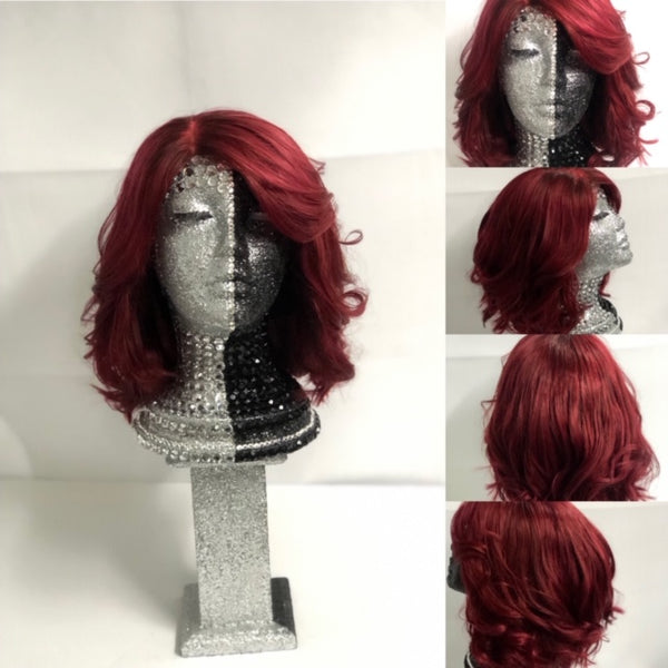 Ramona     12 inch Red Bob Lace Closure