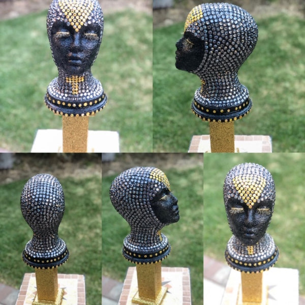 Shadow Goddess Bling Wig Head