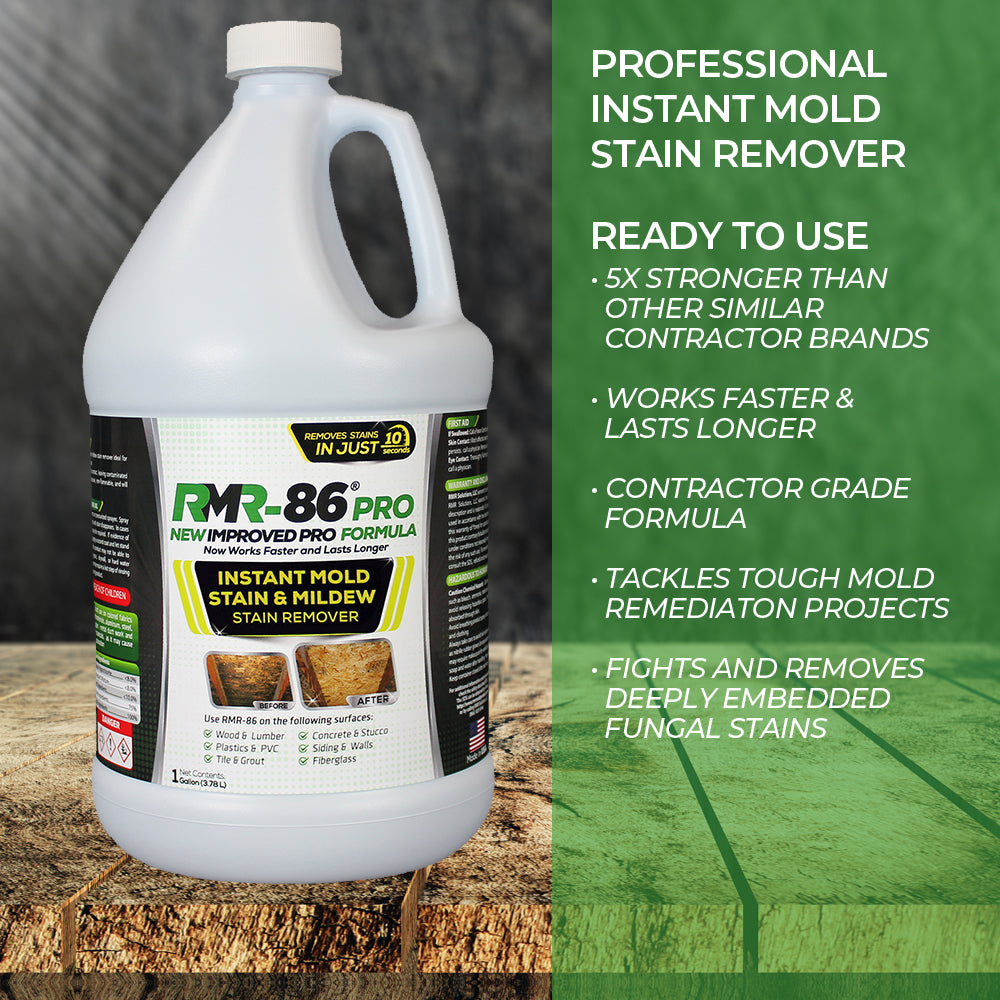 RMR-86 Pro | Mold Stain Remover - Mold Stains and Mildew Stains Disappear Within 10 Seconds Without Scrubbing