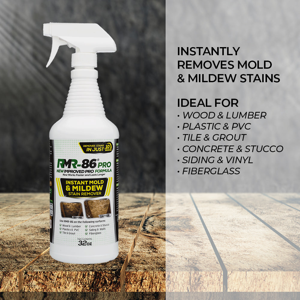 RMR-86 Pro | Quick 'n' Easy Mold Stain Remover - Just Spray and Mold Stains Go Away! (32 oz / 1 Litre)