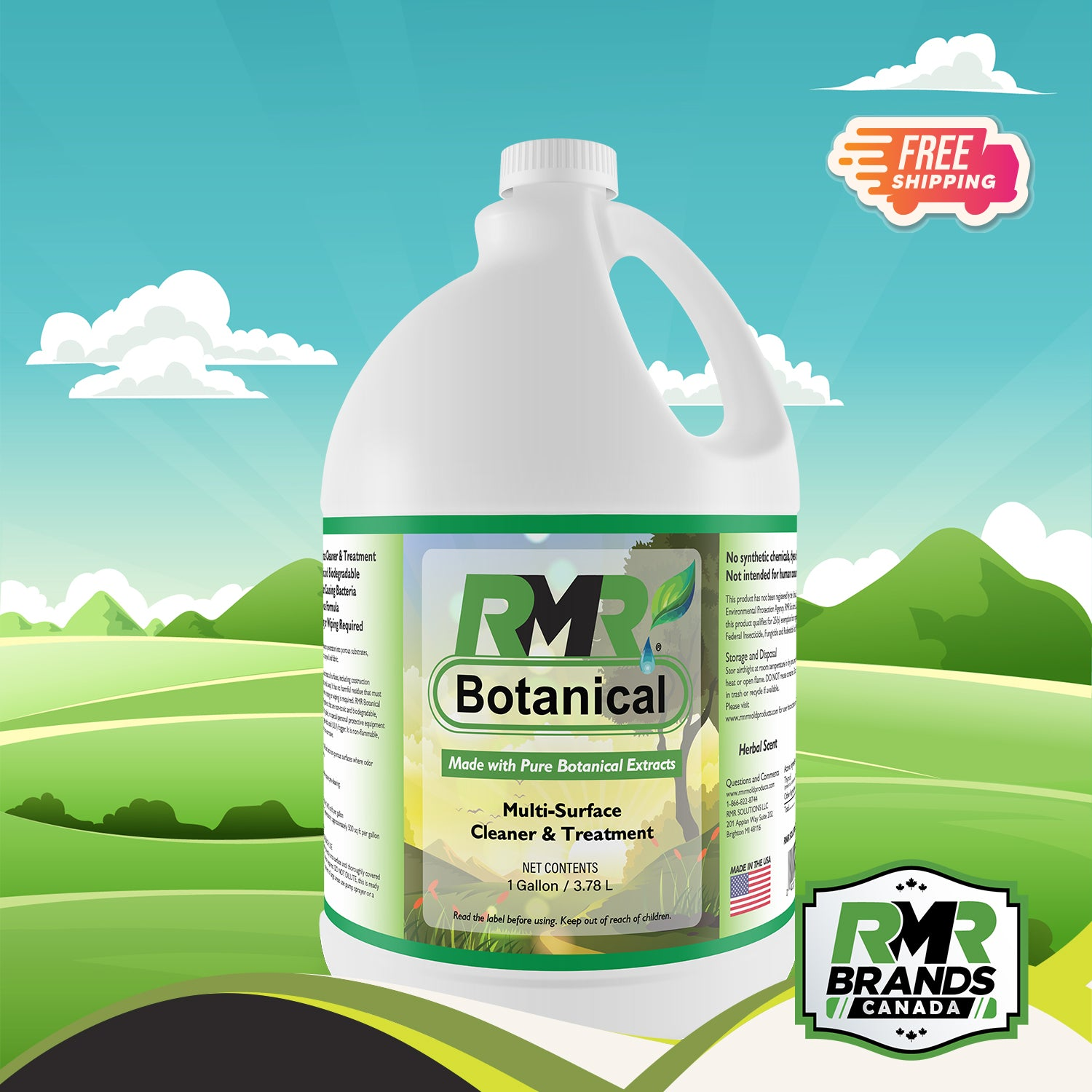 RMR Botanical Multi Surface Cleaner & Treatment - 1 Gallon (4 L)