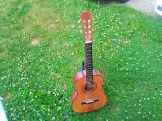 Gremlin Nylon String Guitar with Silvertone Guitar Stand Used for Sale