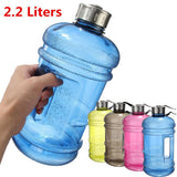 Portable 2.2 L Plastic Water Bottle and Drink Container for Sport, Workout, Gym, Bike