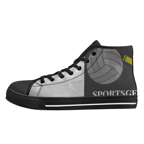 SportsGearOutdoors Logo High-Top Canvas Shoes - Black Sole
