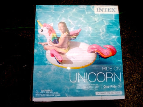 Intex Ride On Unicorn Blow Up Swimming Pool Toy