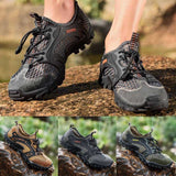 Summer Breathable Men Hiking Shoes Suede  Mesh Outdoor Mens Sneakers