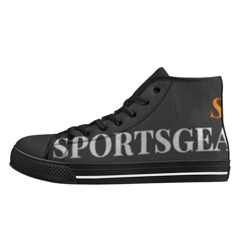 SportsGearOutdoors High-Top Canvas Shoes with Black Soles