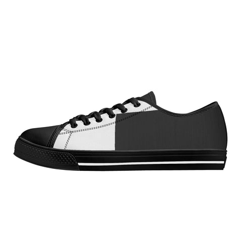 SportsGearOutdoors Rubber Outsoles Low-Top Canvas Shoes - White/Black Sole