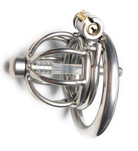 Extreme Male Chastity Device w/Removable Urethra Tube and Anti-Pull Out Protection