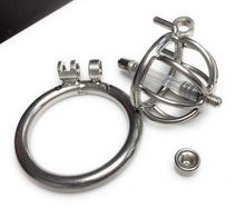 Load image into Gallery viewer, Extreme Male Chastity Device w/Removable Urethra Tube and Anti-Pull Out Protection