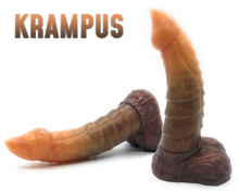 "Load image into Gallery viewer, Krampus 7.5"" (Small) - Ultra Platinum Silicone Dildo"