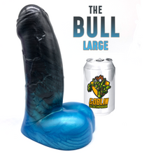 "Load image into Gallery viewer, The BULL 8.6"" Large - Ultra Platinum Silicone Dildo"