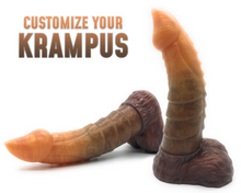 Load image into Gallery viewer, Customize Krampus - Ultra Platinum Silicone Dildo
