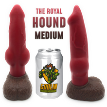 "Load image into Gallery viewer, Customize Hound 8.7"" (Medium) - Platinum Silicone Dildo"