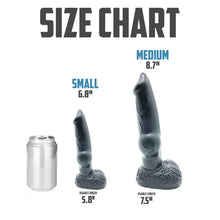 Load image into Gallery viewer, Carbon Black Hound Dildo - Fantasy Dildo - Sex Toy - Adult Toy