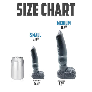 Carbon Black Hound Dildo - Fantasy Dildo - Sex Toy - Adult Toy
