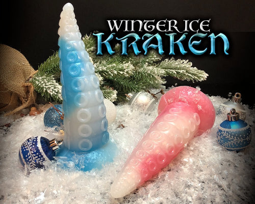 Ice Tentacle Dildo - Ultra Platinum Silicone