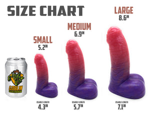 "The Dwarf 8.6"" Large - Platinum Silicone Dildo"
