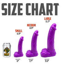 "Load image into Gallery viewer, YETI 6.9"" (Small) - Ultra Platinum Silicone Dildo"