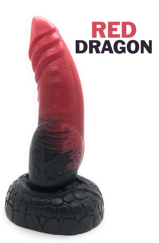 Red Dragon - Fantasy Dildo - Silicone Dildo - Sex Toy - Adult Toy