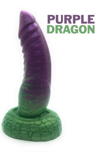Purple Dragon - Fantasy Dildo - Silicone Dildo - Sex Toy - Adult Toy