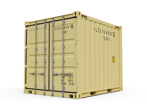 New 10ft Shipping Container-Tan-ContainerDiscounts.com