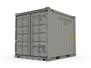 New 10ft Shipping Container-Grey-ContainerDiscounts.com