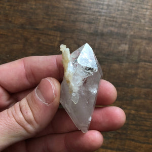 Double Terminated ET Quartz Crystal Point w/ Adularia Crystals