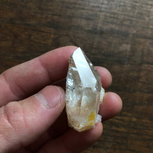 AAA Optical Starbrary Quartz Crystal Point w/ inclusions