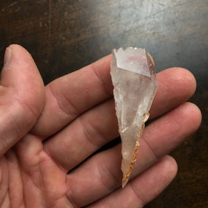 Very Unique Double Terminated Cathedral Quartz Crystal Point