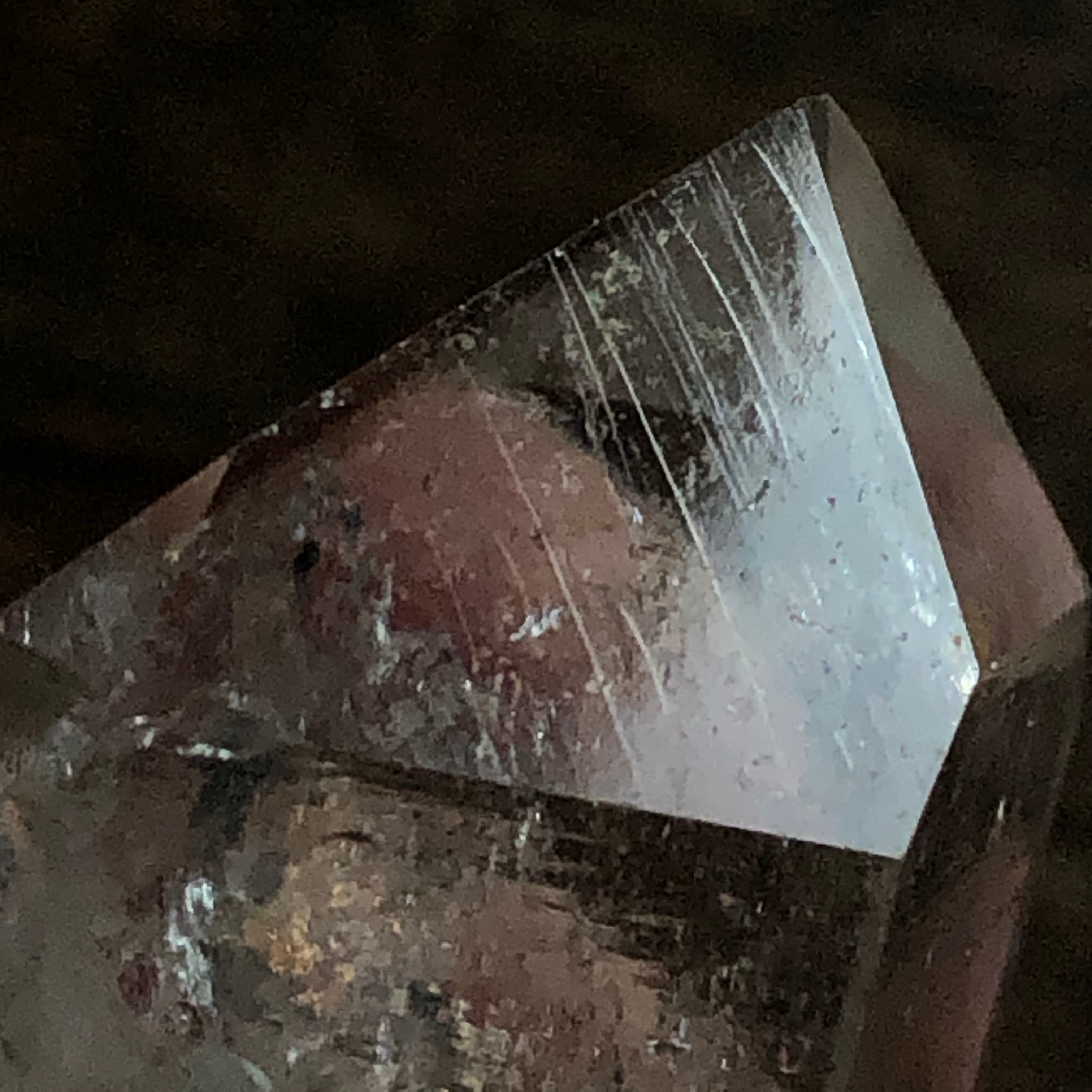High vibrational Quartz Crystal Point w/ unique etchings