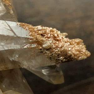 Sand-included Transmitter Quartz Crystal Floater Oddity w/ amazing Etched Sand crystals