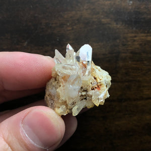 AAA Optical Quartz Crystal Cluster on Sandstone matrix
