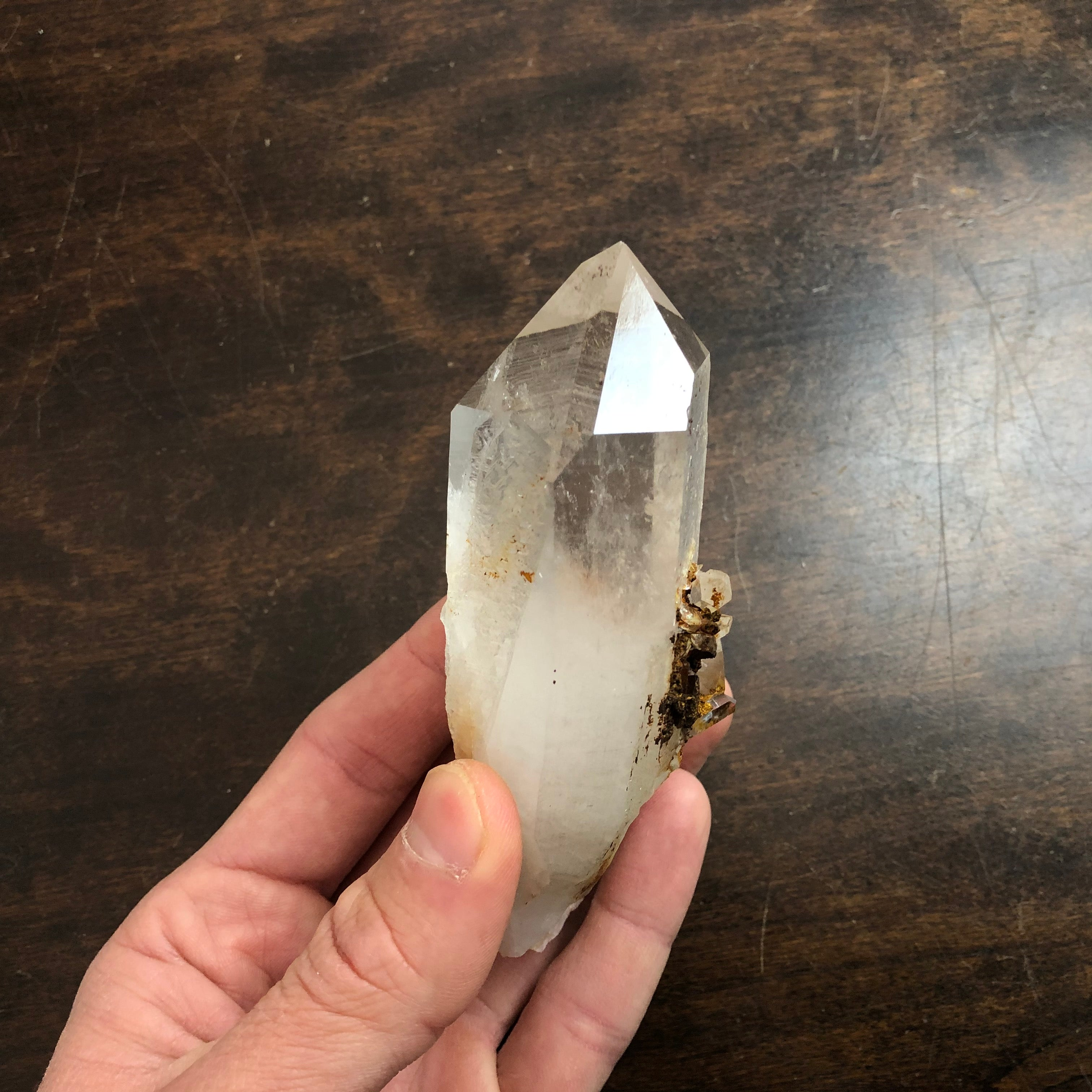 Starbrary Record Keeper Quartz Crystal Point w/ dozens of Record Keepers