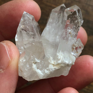 Rare Adularia Phantom Quartz Crystal Cluster
