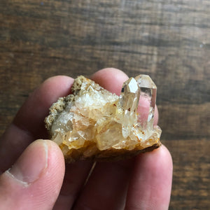 Optical twin Quartz Crystal Cluster w/ crystal cave