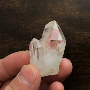 High vibrational Twin Record Keeper Quartz Crystal Point w/ excellent clarity